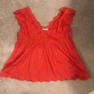 Lucky brand size small red shirt. Never worn